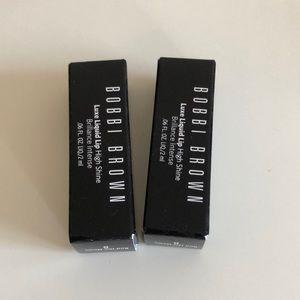 2 Bobbi Brown Luxe Liquid Lip (Red the News) minis